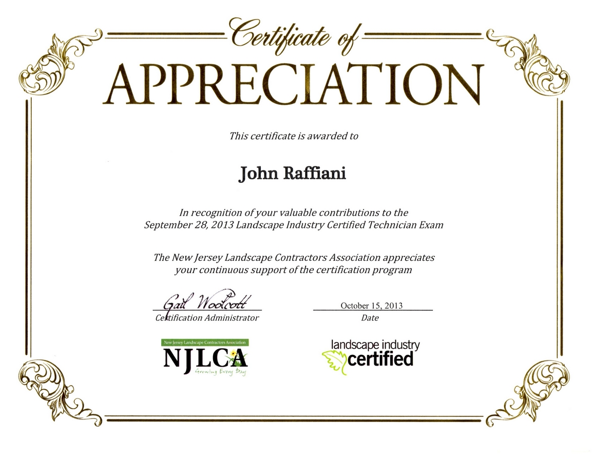 Testimonials 2013 judge for the irrigation module of the planet land care networks nalp landscape industry certified technician exam xflitez Choice Image