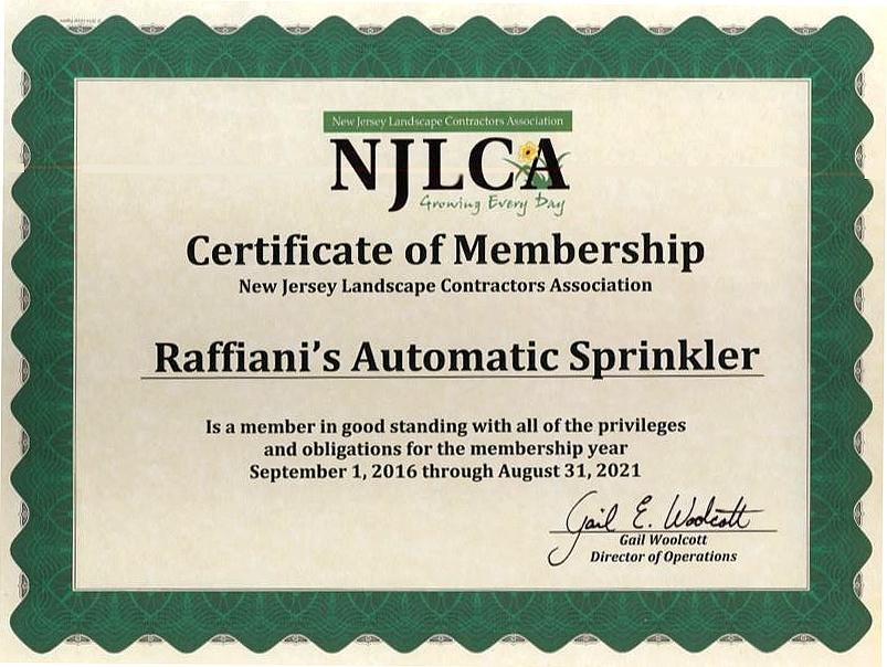 lawn licenses sprinkler jersey certificate care nalp