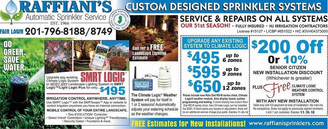 Sprinkler saver discount coupon